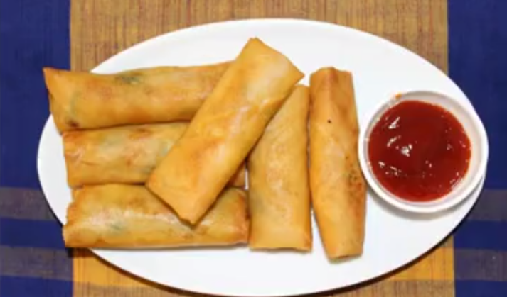 Chicken Spring Roll Recipe Homemade Chinese Chicken and Vegetable Spring Roll